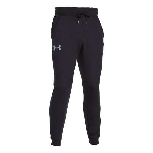 Mens Under Armour Rival Cotton Jogger Full Length Pants - Black/Steel XL