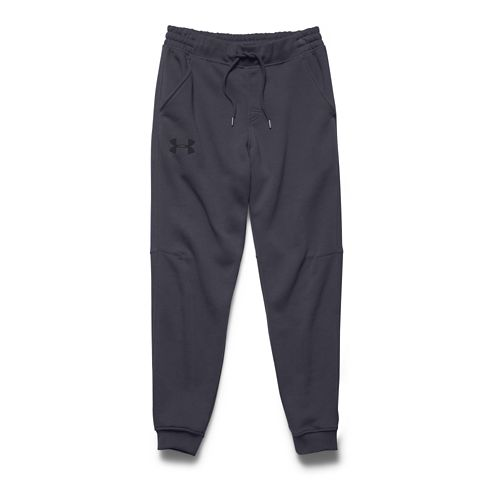 Mens Under Armour Rival Cotton Jogger Full Length Pants - Stealth Grey/Black M