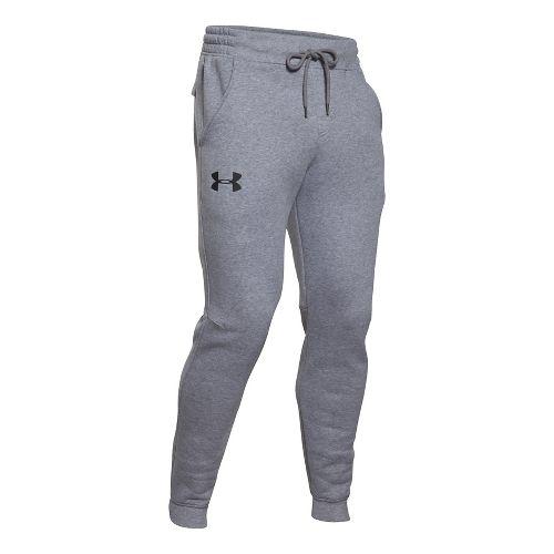 Mens Under Armour Rival Cotton Jogger Full Length Pants - Heather/Black L