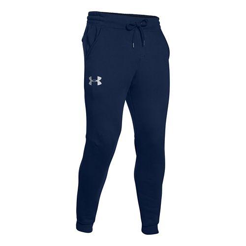 Mens Under Armour Rival Cotton Jogger Full Length Pants - Academy/Grey 3XL