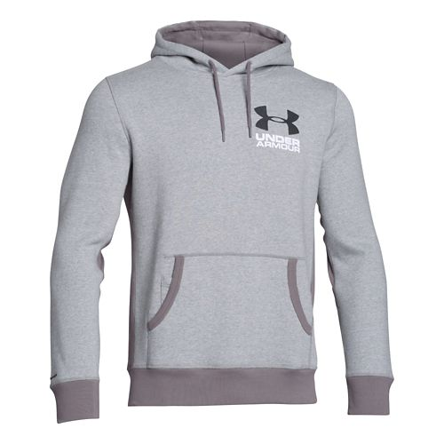 Mens Under Armour Beast Fleece Graphic Pull Over Hoody Outerwear Jackets - Heather/Stealth Grey ...
