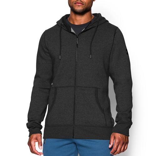 Mens Under Armour Beast Fleece Full-Zip Hoody Outerwear Jackets - Carbon Heather XL