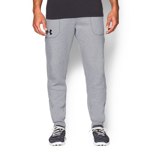 Mens Under Armour Beast Fleece Jogger Full Length Pants - Heather/Concrete XL