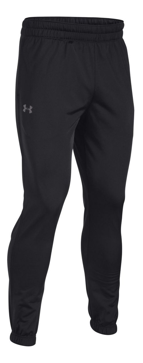 Mens Under Armour Lightweight Warm-Up Tapered Leg Pants - Black/Graphite L