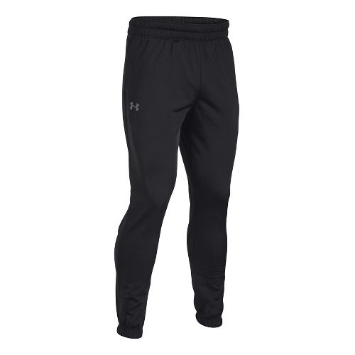 Mens Under Armour Lightweight Warm-Up Pant Tapered Leg Full Length Pants - Black/Graphite XL-T