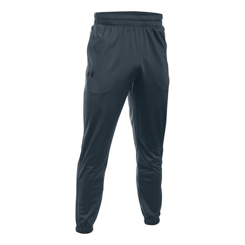 Mens Under Armour Lightweight Warm-Up Tapered Leg Pants - Graphite/Black S