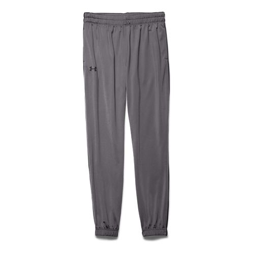 Mens Under Armour Lightweight Warm-Up Tapered Leg Pants - Graphite/Black SR