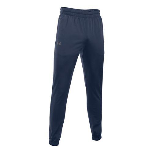 Mens Under Armour Lightweight Warm-Up Tapered Leg Pants - Midnight Navy/Grey XXLR