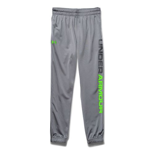 Mens Under Armour Graphic Tapered Tricot Full Length Pants - Steel M-R