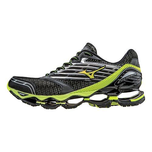 Mens Mizuno Wave Prophecy 5 Running Shoe - Black/Safety Yellow 10.5