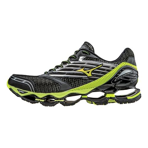 Mens Mizuno Wave Prophecy 5 Running Shoe - Black/Safety Yellow 8.5