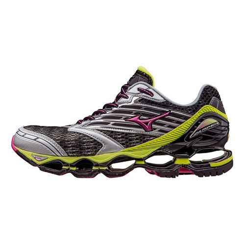 Womens Mizuno Wave Prophecy 5 Running Shoe - Gunmetal/Fuchsia 7.5