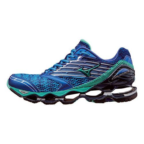 Womens Mizuno Wave Prophecy 5 Running Shoe - Blue/Green 6