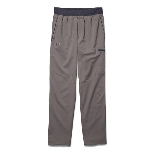 Mens Under Armour Circuit Woven Tapered Full Length Pants - Tan Stone L