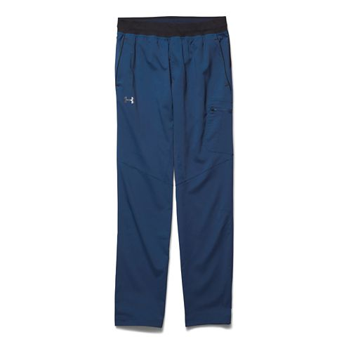 Mens Under Armour Circuit Woven Tapered Full Length Pants - Petrol Blue L