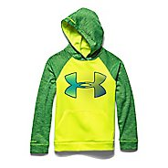 Kids Under Armour Storm Fleece Jumbo Big Logo Long Sleeve Hooded Technical Tops