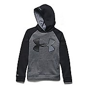 Kids Under Armour Storm Fleece Jumbo Big Logo Long Sleeve Hooded Technical Tops