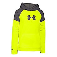 Kids Under Armour Storm Fleece Woven Long Sleeve Hooded Technical Tops
