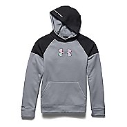 Kids Under Armour Storm Fleece Jacquard Long Sleeve Hooded Technical Tops