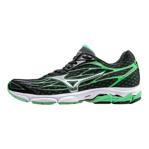 Mens Mizuno Wave Catalyst Running Shoe - Black/Green 12