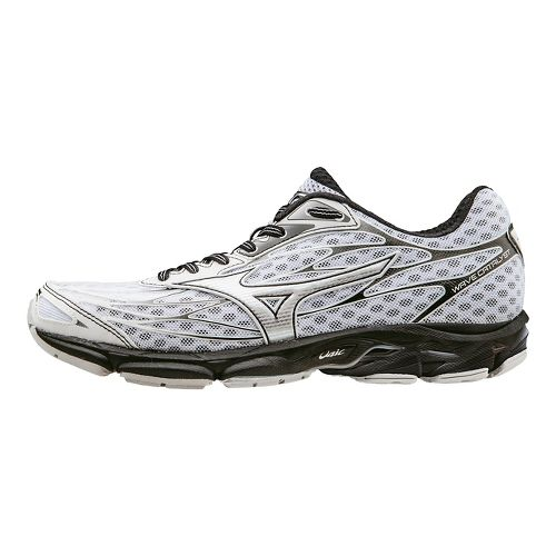Mens Mizuno Wave Catalyst Running Shoe - White/Black 10