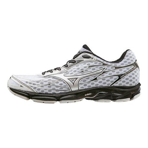 Mens Mizuno Wave Catalyst Running Shoe - White/Black 11.5