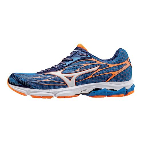 Mens Mizuno Wave Catalyst Running Shoe - Blue/Clownfish 7.5