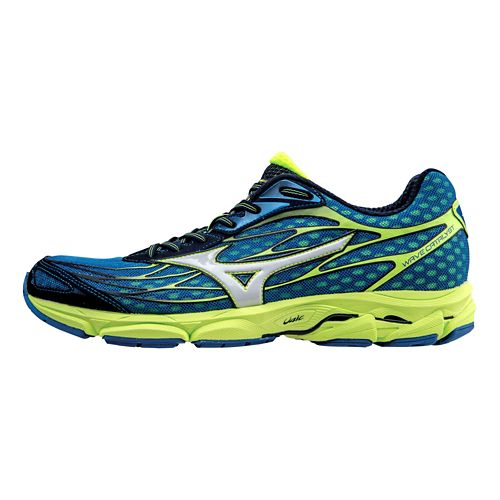 Mens Mizuno Wave Catalyst Running Shoe - Blue/White 10