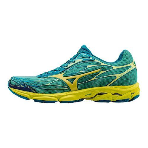 Womens Mizuno Wave Catalyst Running Shoe - Green/Yellow 6