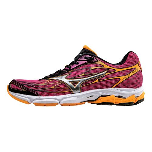 Womens Mizuno Wave Catalyst Running Shoe - Fuchsia/Orange 6