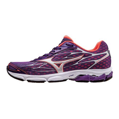 Womens Mizuno Wave Catalyst Running Shoe - Pansy/Pink 8.5