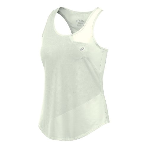 Womens ASICS Mesh Mix Tank Sleeveless & Tank Technical Tops - Icicle M
