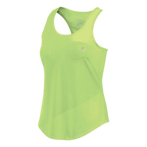 Womens ASICS Mesh Mix Tank Sleeveless & Tank Technical Tops - Pistachio M