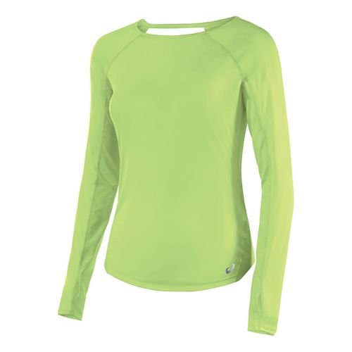 Womens ASICS Long Sleeve Technical Tops - Pistachio M