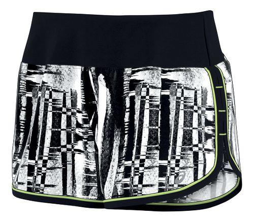 Womens ASICS Everysport Lined Shorts - Black/White L
