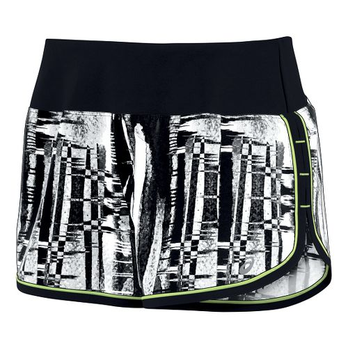 Womens ASICS Everysport Lined Shorts - Black/White L