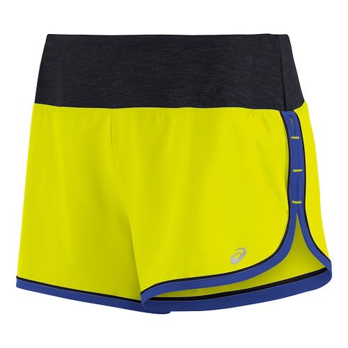 Womens ASICS Everysport Lined Shorts - Safety Yellow L