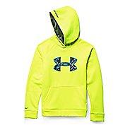 Kids Under Armour Fleece Storm Big Logo Long Sleeve Hooded Technical Tops