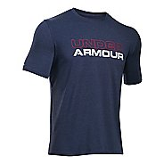 Mens Under Armour Wordmark Tee Short Sleeve Technical Tops