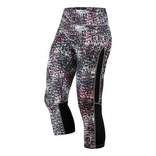 Womens ASICS Printed Capri Pants - Static Print L