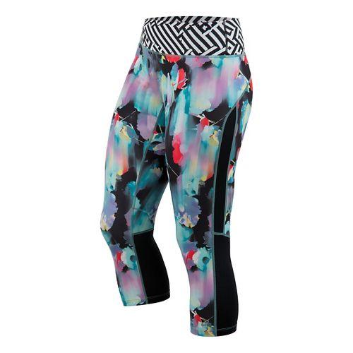 Womens ASICS Printed Capri Pants - Floral Print L