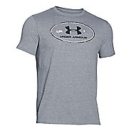 Mens Under Armour Triblend Lockertag T Short Sleeve Technical Tops