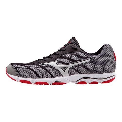 Mens Mizuno Wave Hitogami 3 Running Shoe - Grey/Red 11.5