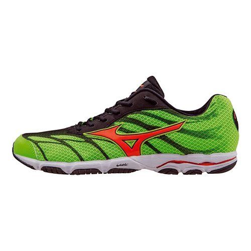 Mens Mizuno Wave Hitogami 3 Running Shoe - Green/Clownfish 10.5