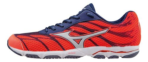 Womens Mizuno Wave Hitogami 3 Running Shoe - Coral/Blue 10.5