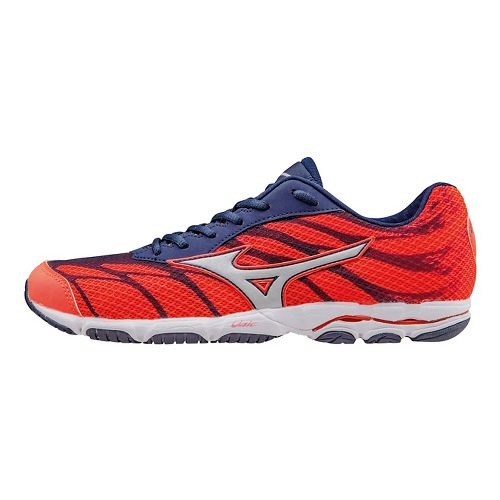 Womens Mizuno Wave Hitogami 3 Running Shoe - Coral/Blue 10