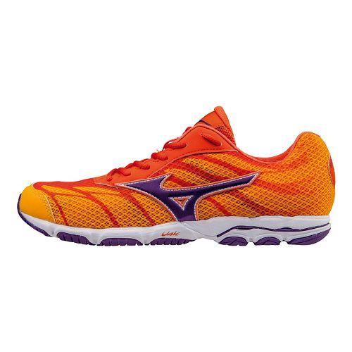 Womens Mizuno Wave Hitogami 3 Running Shoe - Citrus/Pansy 9.5
