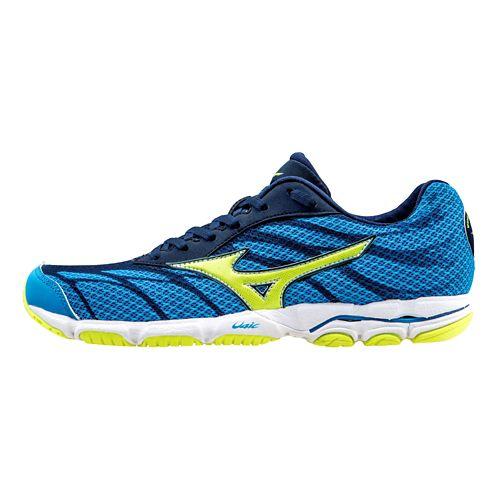 Womens Mizuno Wave Hitogami 3 Running Shoe - Diva Blue/Yellow 6.5
