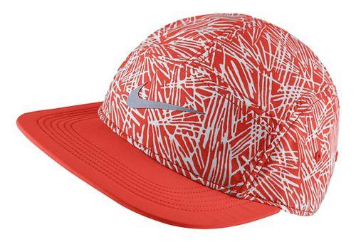 Womens Nike Run Pocket Cap Headwear - Light Crimson