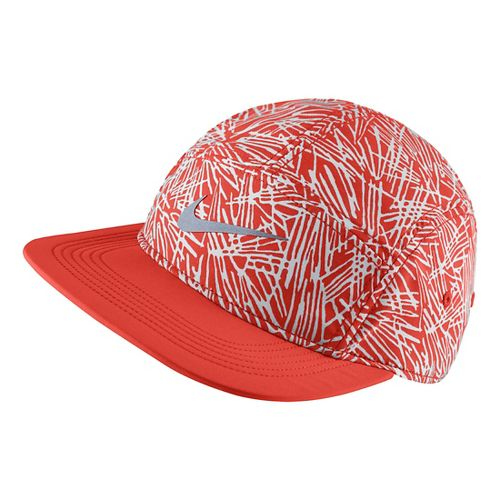 Womens Nike Run Pocket Cap Headwear - Light Crimson